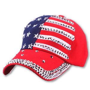 Men's Star Printed Pattern Denim Adjustable Closure Hats