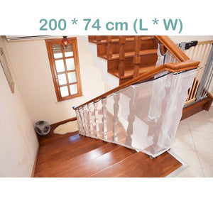 Baby's Folable Transparent Protection Stair Fence Net