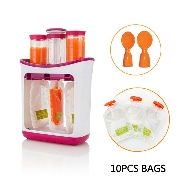 Baby's Essential Fresh Fruit Juice Food Maker Storage Container Tools
