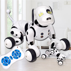 Kid's Wireless Electric Stand Walk Transformation RC Robot Dog Toys