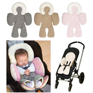 Baby's Plush Soft Neck Belt Strap Protection Stroller Cushion Seat