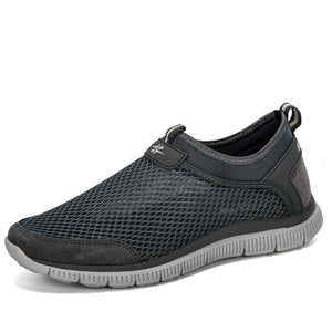 Men's Round Toe Mesh Elastic Hollow Out Slip-On Workout Sneakers