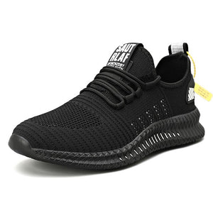Men's Mesh Pointed Toe Plain Cross Lace-Up Workout Sneakers