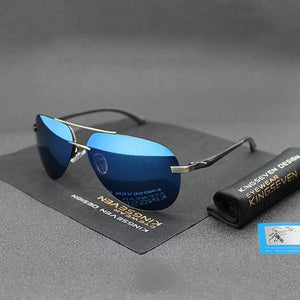 Men's Colorful Mirror Lens Alloy Frame Vintage Polarized Sunglasses