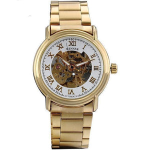 Men's Round Stainless Steel Alloy Buckle Automatic Dial Formal Watch