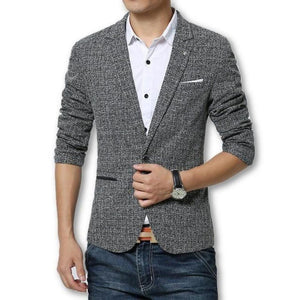 Men's Turn-down Collar Long Sleeve Striped With Pocket Blazers