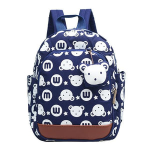 Kid's Cartoon Printed Pattern Zipper Closure Backpack Bags