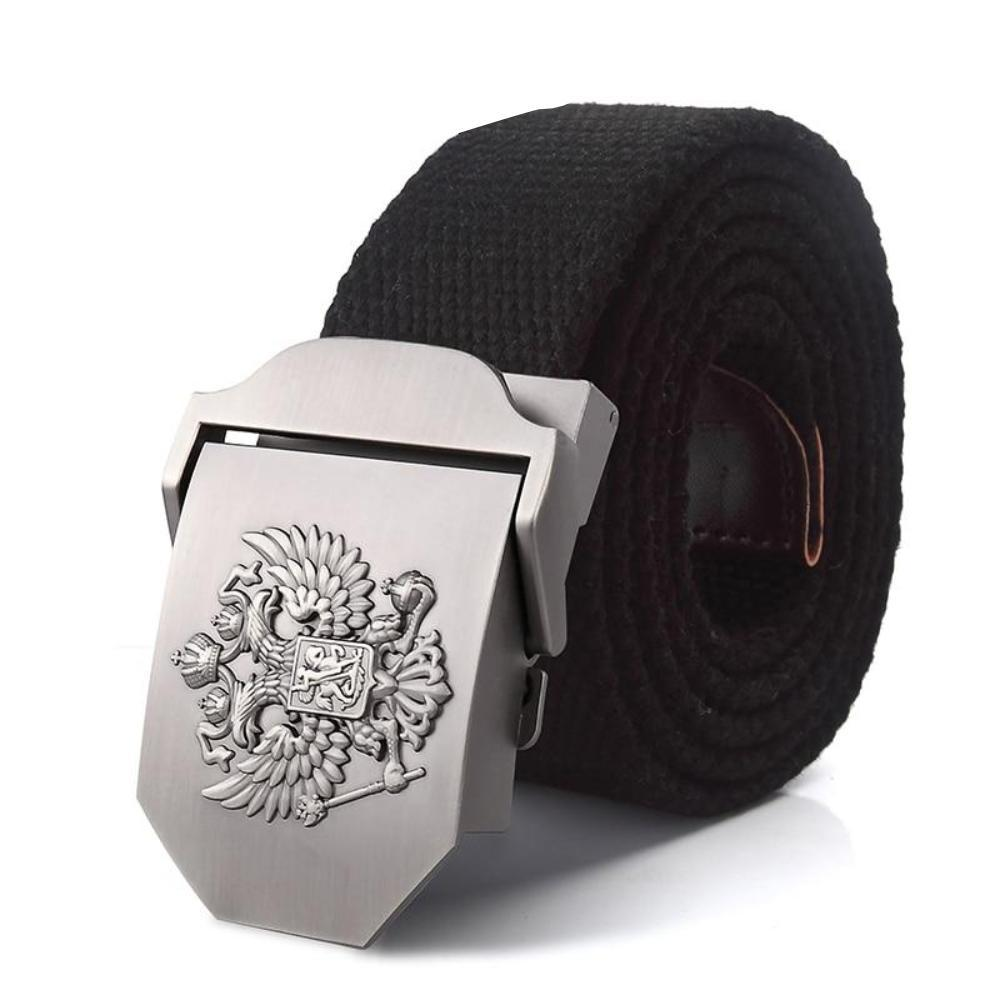 Men's Plush Pattern Alloy Pin Automatic Buckle Belts
