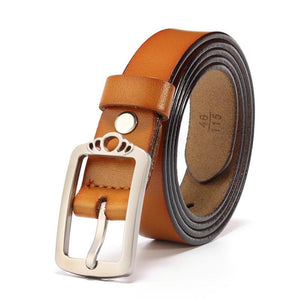 Women's Genuine Leather Alloy Pin Buckle Waistband Belts