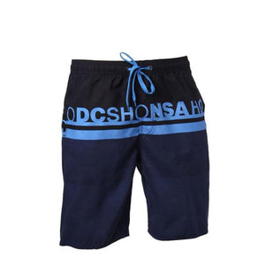 Men's Low Waist Letter Printed Loose Surf Knee-Length Beachwear Shorts
