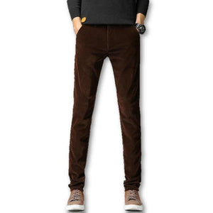 Men's Low Waist Stretchy Slim Plain With Front Pocket Pants