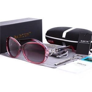 Women's Oval Light Colorful Lens Thin Frame Polarized Stud Sunglasses