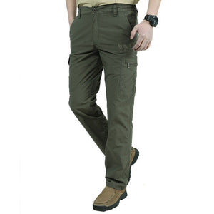 Men's Low Waist Plain Quick Dry Pocket Zipper Closure Casual Pants