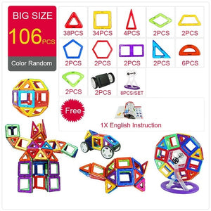 Kid's Magnetic Blocks Robot Building Construction Interactive Toys
