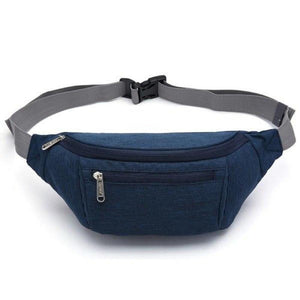 Men's Solid Soft Adjustable Waist Band With Zipper Bags