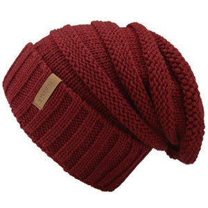 Women's Soft Plush Stretchy Linen Pattern Beanies Knitted Warm Hats