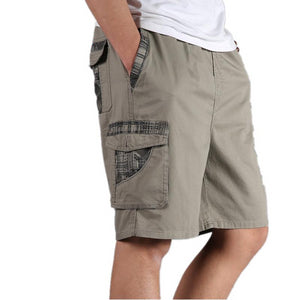 Men's Low Elastic Waist Plain With Side Pocket Summer Flare Short