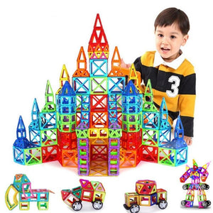 Kid's Solid Shape Construction Magnet Educational and Interactive Toy