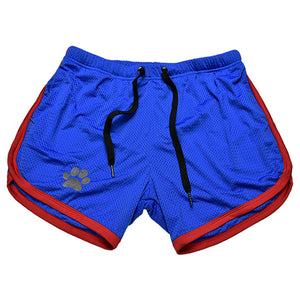 Men's Low Elastic Waist Knot Plain Stretchy Quick Dry Swimwear Shorts
