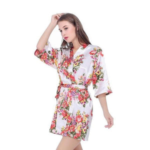 Women's V-Neck Half Sleeve Floral Printed Pattern Above Knee Outfits