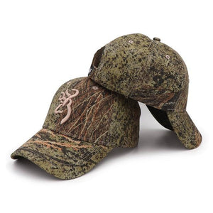 Men's Camouflage Printed Patchwork Back Adjustable Closure Hats