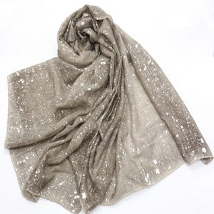 Women's Viscose Patchwork Long Neck Wrap Winter Wear Scarves
