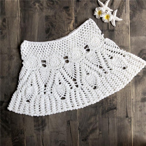 Women's Low Waist Lace Hollow Out Crochet Summer Skirts