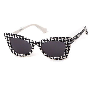 Kid's Cat Eye Light Colorful Mirror Lens Thin Print Frame Sunglasses
