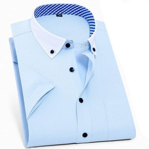Men's Turn-down Collar Long Sleeve Plain Single Breasted Formal Shirts
