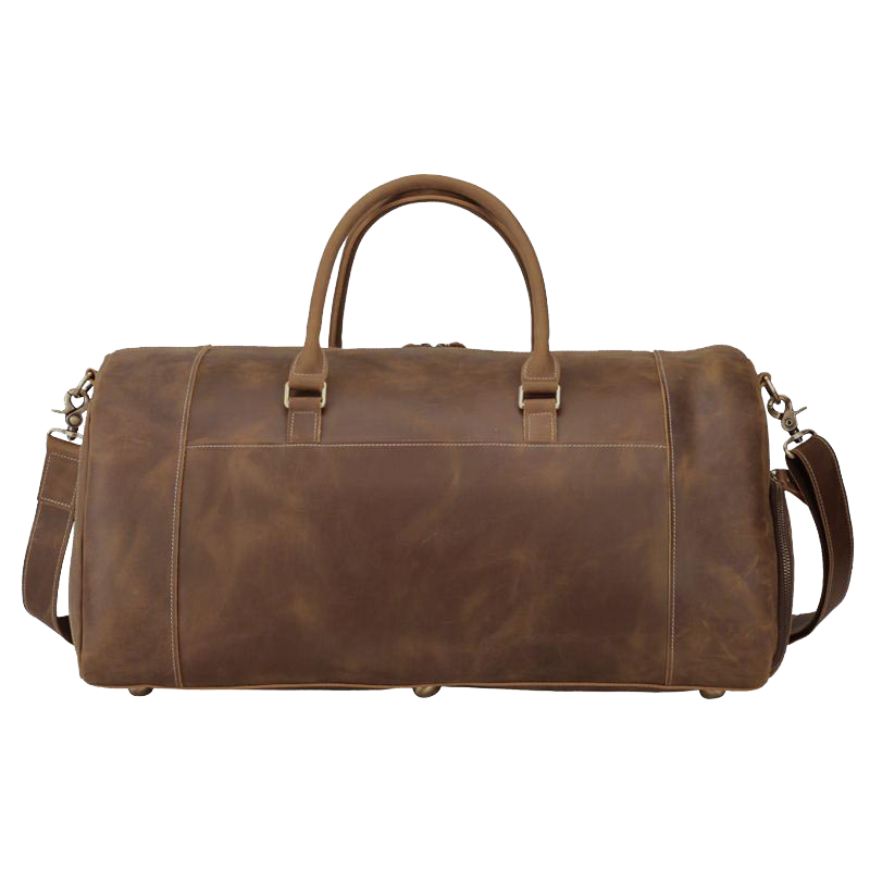 Platero Duffle Bag Genuine Leather Travel Luggage Bag with Shoe Compartment for Men & Women