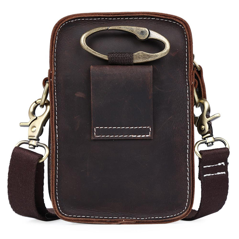 Small Waist Pack Leather Crossbody Bag Hip Belt Bags for iPad & iPhone by Platero