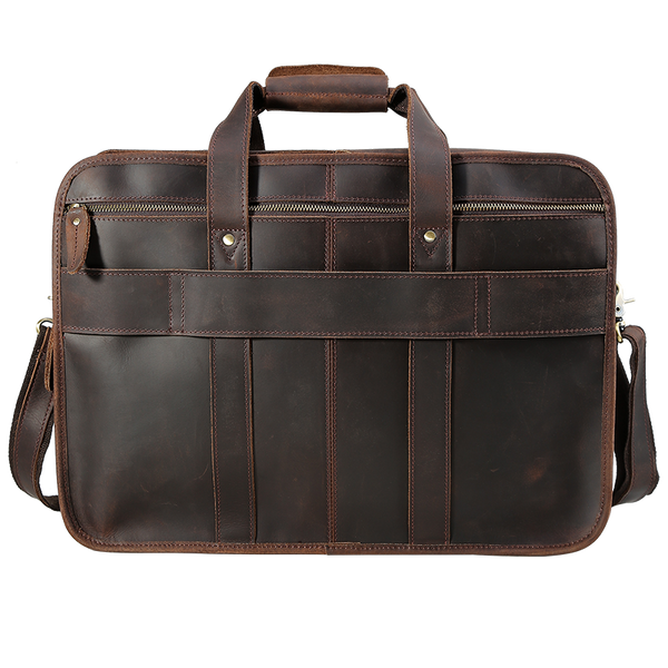 "Genuine Leather Briefcase Platero 17"" Laptop Briefcase For Men"
