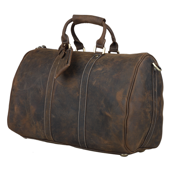 Travel Duffel Bag Italian Leather Bag Overnight Luggage Bag by Platero