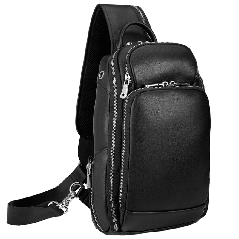Leather Chest Sling Bag Crossbody Backpack by Platero
