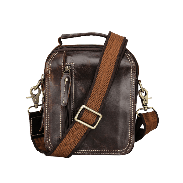 Leather Crossbody Bag Shoulder Messenger Bag with Multi Pockets by Platero