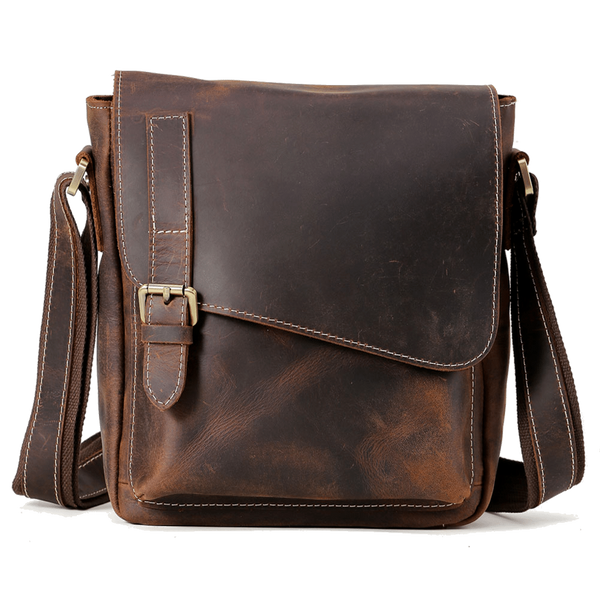 Men's Leather Satchel Messenger Bag for Laptop Brown Handmade Genuine Tote Leather Bags by Platero