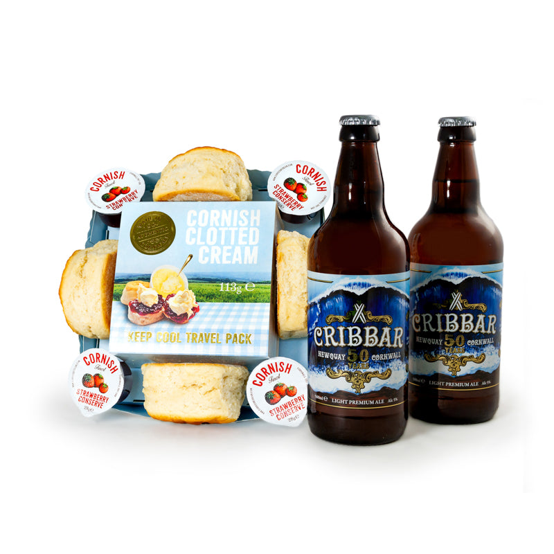 Cornish Cream Tea with 2 x 500ml Cribbar Ale