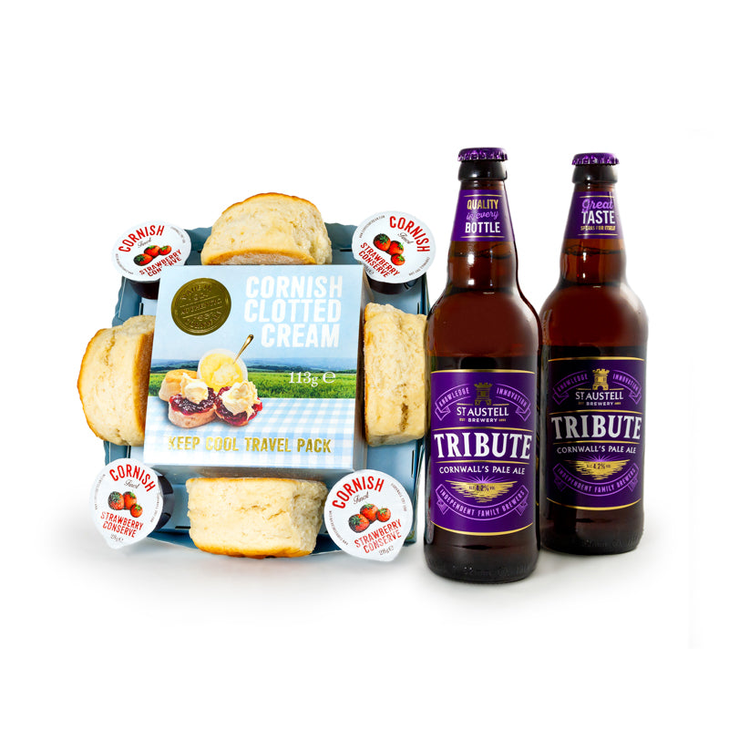 Cornish Cream Tea with 2 x 500ml Cornish Tribute Ale