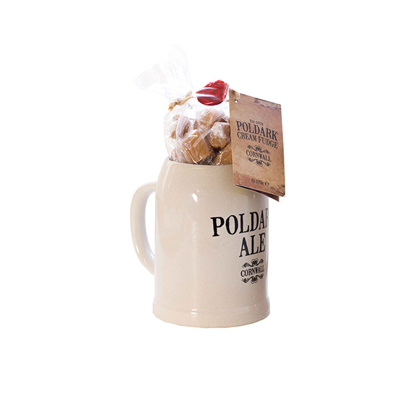 Poldark Ale Mug with 2 x 170g Cornish Cream Fudge