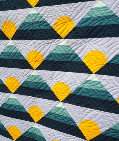 Mountain Horizon quilt by Lo and Behold Stitchery