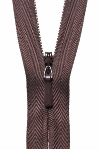 "Concealed Zip 23cm/9"" Col 570 Brown"