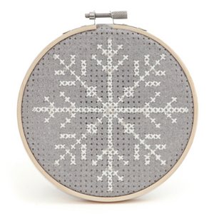 Cross Stitch Kit with Hoop (Counted) - Snowflake