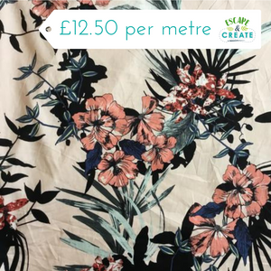 tropical stretch cotton fabric at escape and create