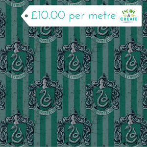 harry potter slytherin cotton fabric