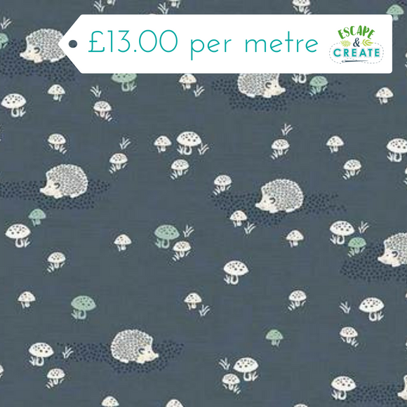 Woodland Forest fabric collection by Makower at escape and create cambridge fabric shop
