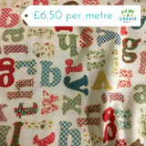 alphabet cotton poplin fabric at escape and create