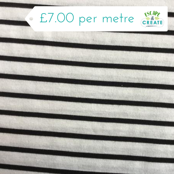 lightweight Black & White Stripe Jersey at escape and create