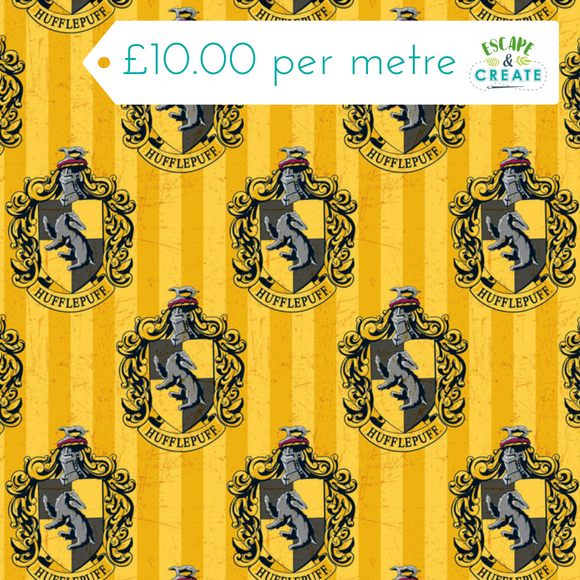 harry potter hufflepuff cotton fabric