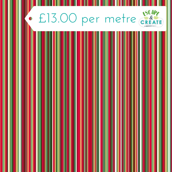 Twelve Days - Multi Stripe Red by Makower
