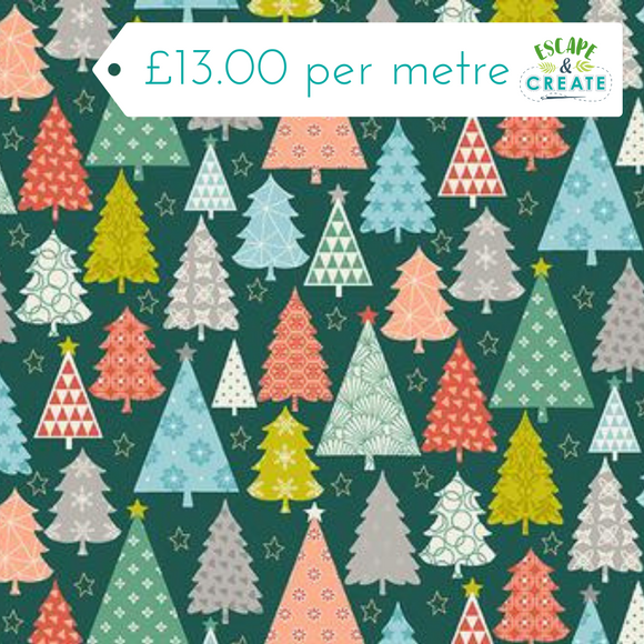 Now £10.40 p/m Merry Christmas Trees by Makower
